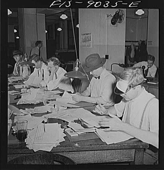 New York Times Newsroom 1942 - Majory Collins