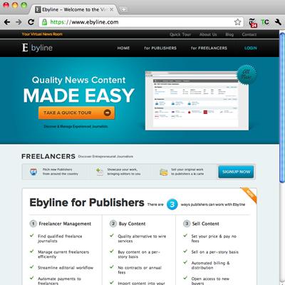 Ebyline.com Homepage Welcome to the Virtual Newsroom