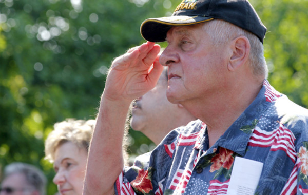 Richard Csoltko's salute at a Memorial Day observance gave me an action to illustrate the event.
