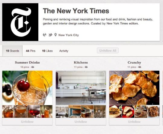 NYT Pinterest