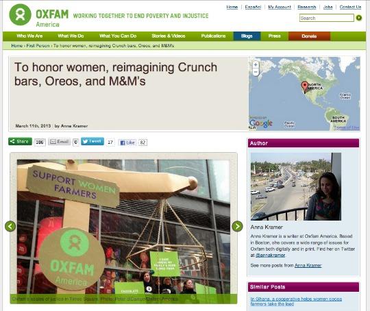 Oxfam America blog