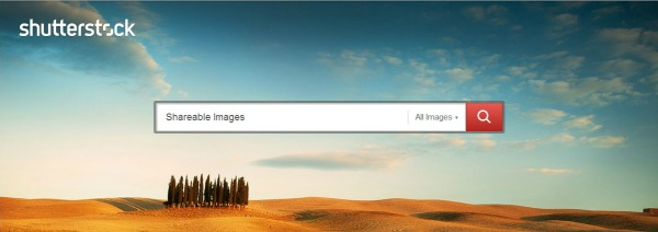 The Shutterstock Homepage