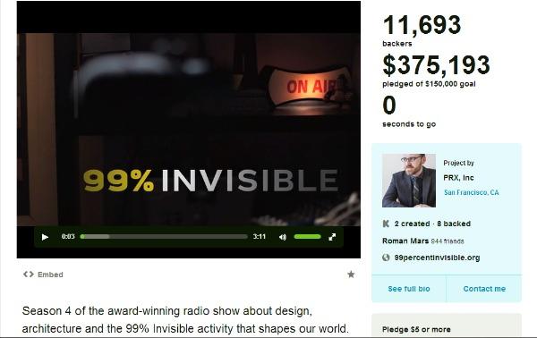 99% Invisible's Kickstarter Campaign