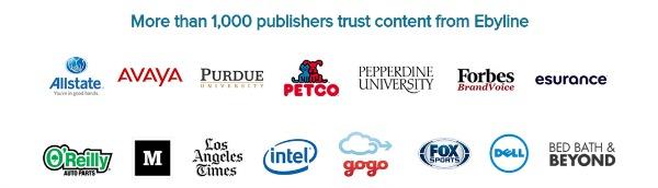 Ebyline's Content Partners